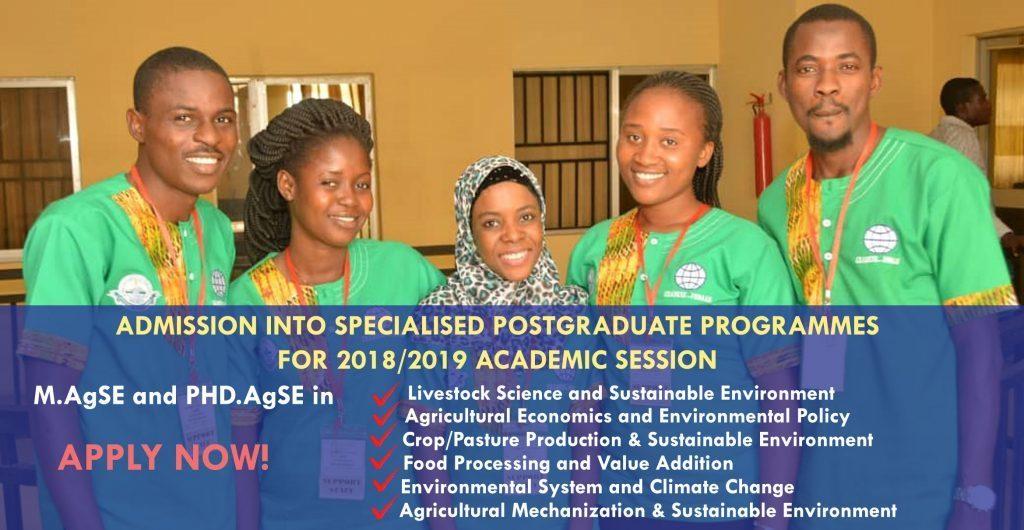 FUNAAB CEADESE Postgraduate Admission Form