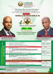 Landmark University Convocation Ceremony