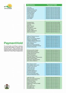 List Of N-power Volunteers Whose Payments Have Been Put On Hold