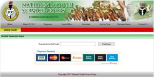 Make Payment On NYSC Portal Via Remita