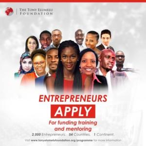 How To apply For Tony Elumelu Foundation Entrepreneurship Programme