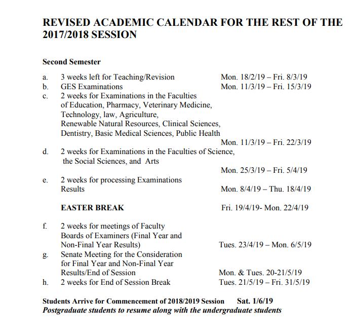UI academic calendar