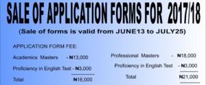 UI Postgraduate Studies Admission Application Form