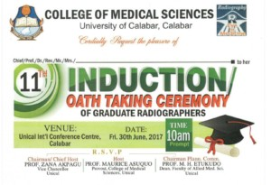 UNICAL Induction Ceremony of Graduate Radiographers