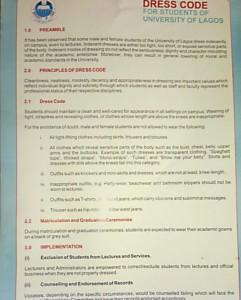 UNILag Dress Code For Students