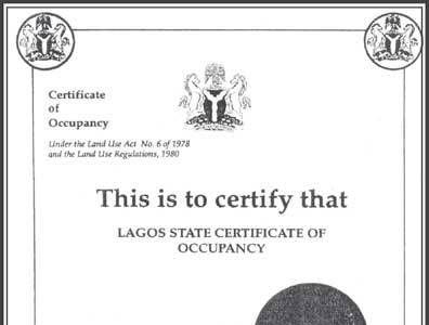 Certificate of Occupancy